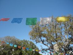 Downtown Los Angeles, Olvera Street. Colorful flags. #colorfulflags. #colors, #flags.