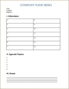 A It Meeting Agenda Template Clear Agenda Also Makes It Easier To