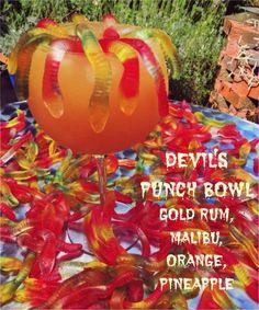Devil's Punch Bowl Halloween Cocktail