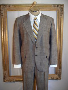 Vintage 1980's Der Herr Brown Suit - Size 44