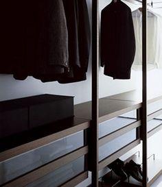 modern walk-in closet storage system