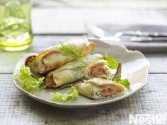 Rollitos de salmon y queso fresco- Recetas Buitoni - YouTube