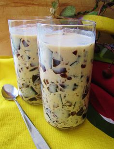 """Japanese Coffee Jelly Drink (Low-Carb, Gluten-Free, Paleo/Primal): """"I don't see it very often in the United States, but coffee jelly is actually a pretty popular drink in Japan. It's served about a million and one ways over there, but my favorite way to eat coffee jelly is simply by serving it with milk or cream. It makes for an excellent summertime pick-me-up, plus there's something about a glass of jelly that is very refreshing to look at."""""""