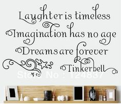 DNVEN DIY 24 inches x 22 inches Laughter is Timeless Imagination Has No Age Dreams Are Forever Home Vinyl Wall Decals Quotes Sayings Words Art Decor Lettering Vinyl Wall Art Disney Wall Decals, Kids Wall Decals, Removable Wall Decals, Wall Stickers Words, Wall Decor Stickers, Vinyl Wall Quotes, Vinyl Wall Art, Quote Wall, Christmas Decals