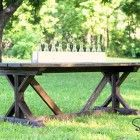 Ana White   Build a Fancy X Farmhouse Table   Free and Easy DIY Project and…