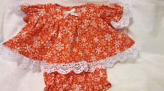 """SALE 15% OFF Red/White Snowflake Print Dress fits 12-14"""" Cabbage Patch/ similar sized dolls #CabbagePatch"""