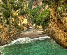 A village in a Fjord! Furore in Italy is a brightly coloured settlement tucked away in the...