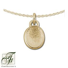 14K Yellow Gold - 11mm Fingerprint w/Bail - (does not include chain) $409.99