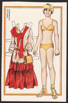 EVIE Tornqvist Scarce Vintage 1977 Paper Doll issued in Sweden | eBay