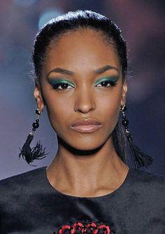 NYFW Fall 2012: Top Makeup Moments - Teal Eyeshadow