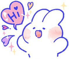 mongmong rabbit - Google Search Love Memes, Love Pictures, Cute Icons, Emoji, Smurfs, Chibi, Hello Kitty, Weird, Bunny