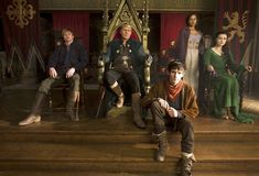 Arthur, Uther, Merlin, Gwen and Morgana
