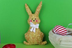 Easter Bunny, My Etsy Shop, Christmas Ornaments, Yellow, Decoration, Holiday Decor, Unique Jewelry, Handmade Gifts, Check