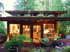 Every so often we come across designers who flawlessly actualize the vision so many of us hold of the perfect off grid cabin. This little cabin with a living roof from David Coulson Design is an excellent example of that. It mixes salvaged and new elements into a stunning Japanese-style design. Built on his property …