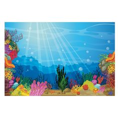 Take your VBS under the sea with this backdrop banner. This VBS decoration is perfect for classrooms, photo props, plays and more. #VBS