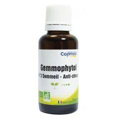 Gemmophytol n°3 sommeil - anti-stress Complément alimentaire à base de bourgeons.  Apaise et contribue à maintenir un sommeil naturel, grâce à l'extrait de bourgeon d'aubépine.