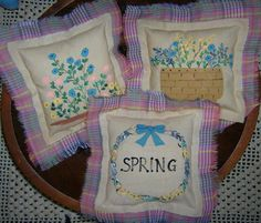 Primitive Tucks Spring Ornie Bowl Fillers by auntiemeowsprims, $9.99