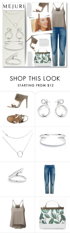 """""""Grace: Jen Chae x Mejuri"""" by mood-chic ❤ liked on Polyvore featuring Gianvito Rossi, Anja, M.i.h Jeans, LE3NO, contestentry and jenchaexmejuri"""