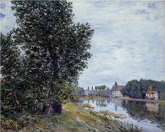 At Moret sur Loing - Alfred Sisley, 1892