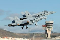 F/A-18A del 462 Escuadrón. Gando