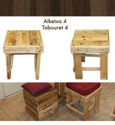 Petit tabouret en bois de palette palettes pinterest - Fabriquer un tabouret de bar en bois ...