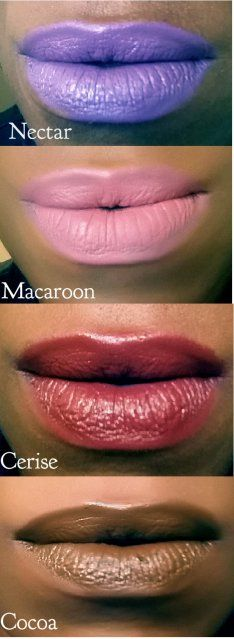 #BITE #TheMultistick lip swatches on deeper skintone