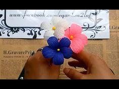 Cherry blossoms paper flower - Làm cây hoa anh đào từ giấy nhún - YouTube