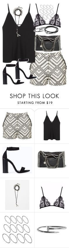 """""""Outfit for clubbing in summer"""" by ferned ❤ liked on Polyvore featuring Topshop, Christopher Esber, Zara, STELLA McCARTNEY, SKINN and ASOS"""