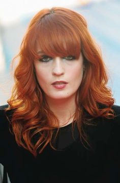 Florence Welch:  Indie music queen Florence is known for her fiery red hair and block fringe. Her natural colour is brown but she dyes it red to make her look like more of a rock chick, and it works!