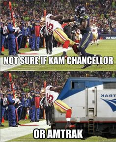 Awesome!  Kam Chancellor Seattle Seahawks