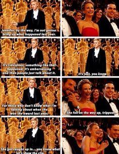 Ellen and Jennifer Lawrence- my two favorite people