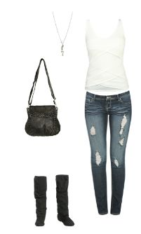 WetSeal.com Runway Outfit:  Out on the Town by Straight Gloss. Outfit Price $81.75