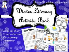 I continued my story series with one suitable for the beginning of winter.First Winter is about a fox cub, and its friend, the bear cub. The latter is surprisingly always sleepy and wishes to get some rest. One morning, after the first snow, the fox cub and his new pal - a baby wolf - learn that their friend will actually hibernate during winter.