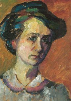 gabriele münter   peira:Gabriele Münter: Selbstbildnis (1909)