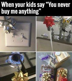 My kids claim I never buy them anything