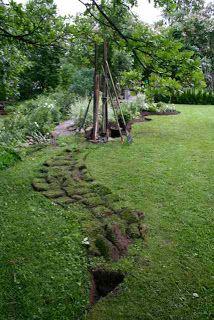 Trädgårdsflow: White border