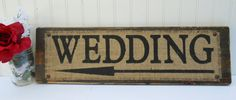 Rustic Wedding directional arrow sign on by SophiasSignBoutique, $39.00