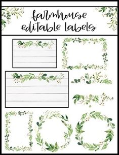 "Farmhouse Classroom Decor shiplap Editable labels in 12 different designs/sizesShiplap and floral detailsEach design comes in multiple sizes***FREE BONUS: ""home sweet classroom"" poster"