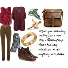 """Frodo Baggins"" by favourite-fictional-fashions on Polyvore"