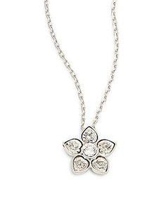 Swarovski Crystal Flower Pendant Necklace - No Color - Size No Size