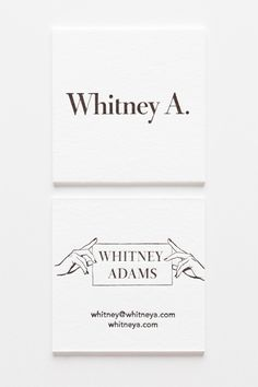 30 Ultra-Creative Business Cards For A Killer First Impression #refinery29  http://www.refinery29.com/cool-los-angeles-business-cards#slide-7  We're crazy about the striking simplicity of Whitney Adams' square beauties. For the all-important design decision, the actress, sommelier, and writer turned to the creative minds at Iron Curtain Press.