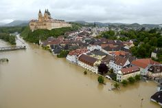 Torrential rains across central Europe have led to the worst flooding in decades, claiming the lives of many people. Earth Powers, Danube River Cruise, Bizarre News, Weird Pictures, Amazing Pictures, Central Europe, Dolores Park, Germany, Vacation
