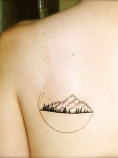 Mountain Tattoo on back