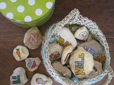 אלף-בית rocks craft   Meital Glazer-Avigad onto Products I Love