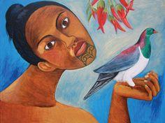 People of the Pacific Nz Art, Art For Art Sake, Moana, Maori Patterns, Polynesian Art, New Zealand Art, Maori Art, Kiwiana, Artist Painting