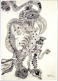 The automatic drawing of German artist Unica Zürn