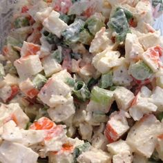 Crab meat salad for lunch. Crab meat Green onions, low fat Mayo, Celery Cracked pepper!!  #ClubPhotoBooth