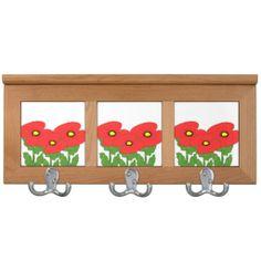 Poppies Coat Rack