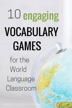 10 Spanish Vocabulary Games for the Language Classroom 10 engaging vocabulary games Build your students' vocabulary in engaging and memorable ways Spanish Vocabulary Games, Vocabulary Practice, Vocabulary Activities, Vocabulary Words, Spanish Games, Vocabulary Strategies, Listening Activities, Spanish Activities, Spelling Activities