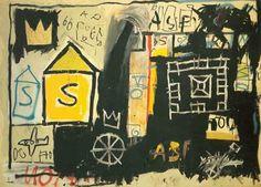 Basquiat Painting Bas22 | Pinturas al Oleo | Ming Gallery Basquiat Paintings, Artist Bio, Magritte, Mondrian, Renoir, Banksy, Art Reproductions, Art Oil, Van Gogh
